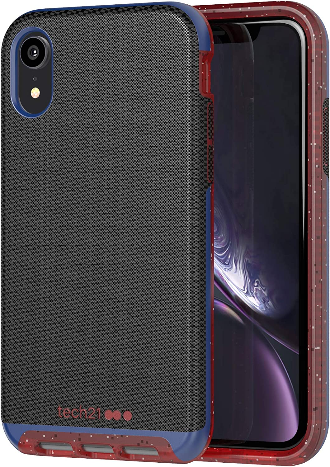 tech21 Evo Luxe Active Edition Phone Case Cover for Apple iPhone XR - Black
