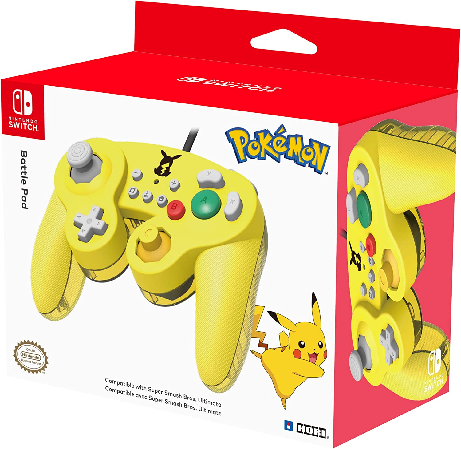 Official Nintendo Licensed Smash Bros Gamecube Style Controller for Nintendo Switch Pikachu Version - Nintendo Switch [Importación inglesa]: Amazon.es: Videojuegos