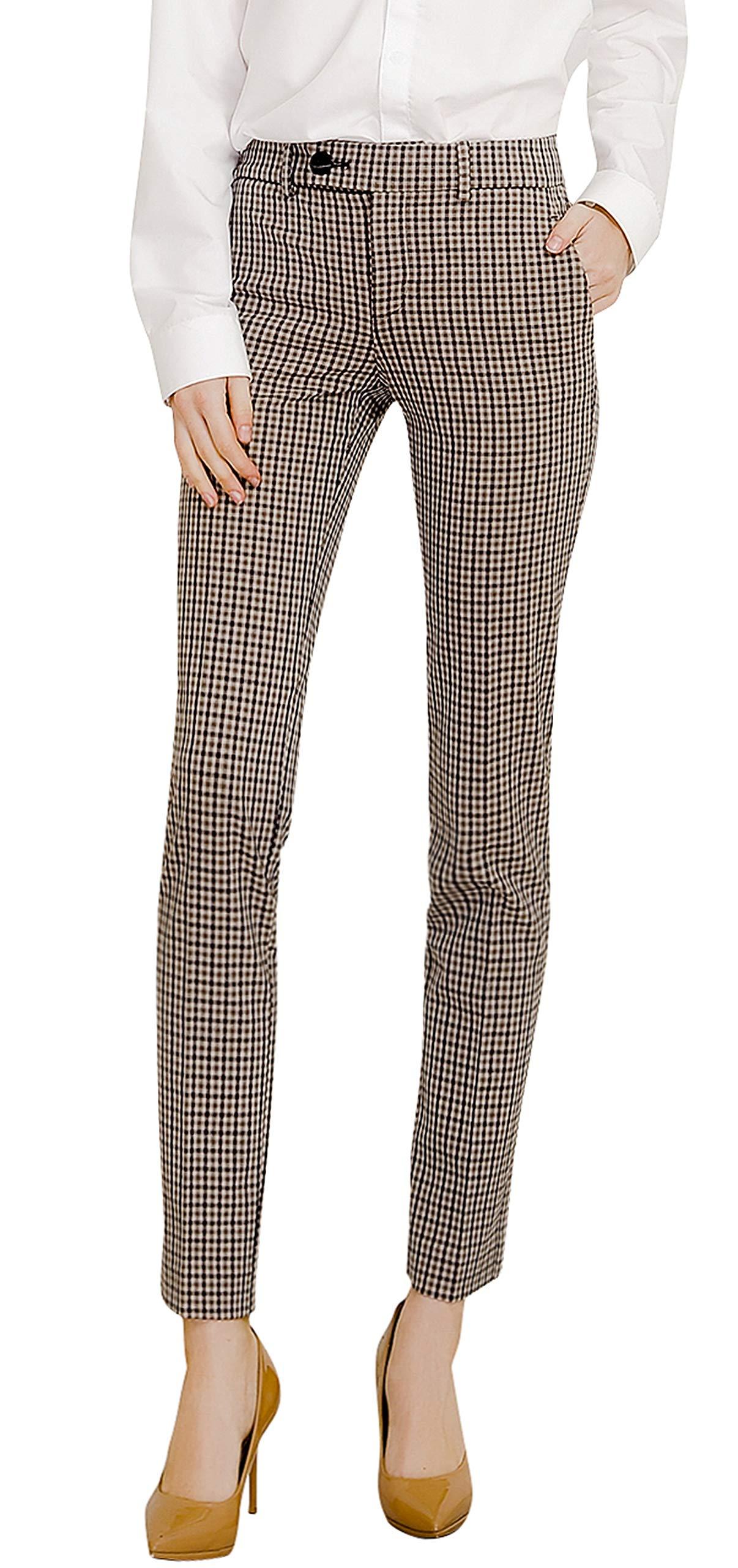 Marycrafts Women's Work Dress Pants Straight Leg Bootcut Trousers