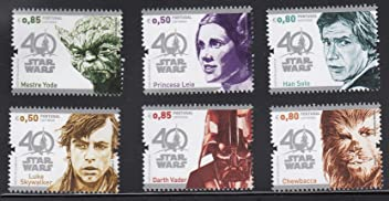 STAR WARS 40th Anniversary Collectible Postage Stamps Set Portugal