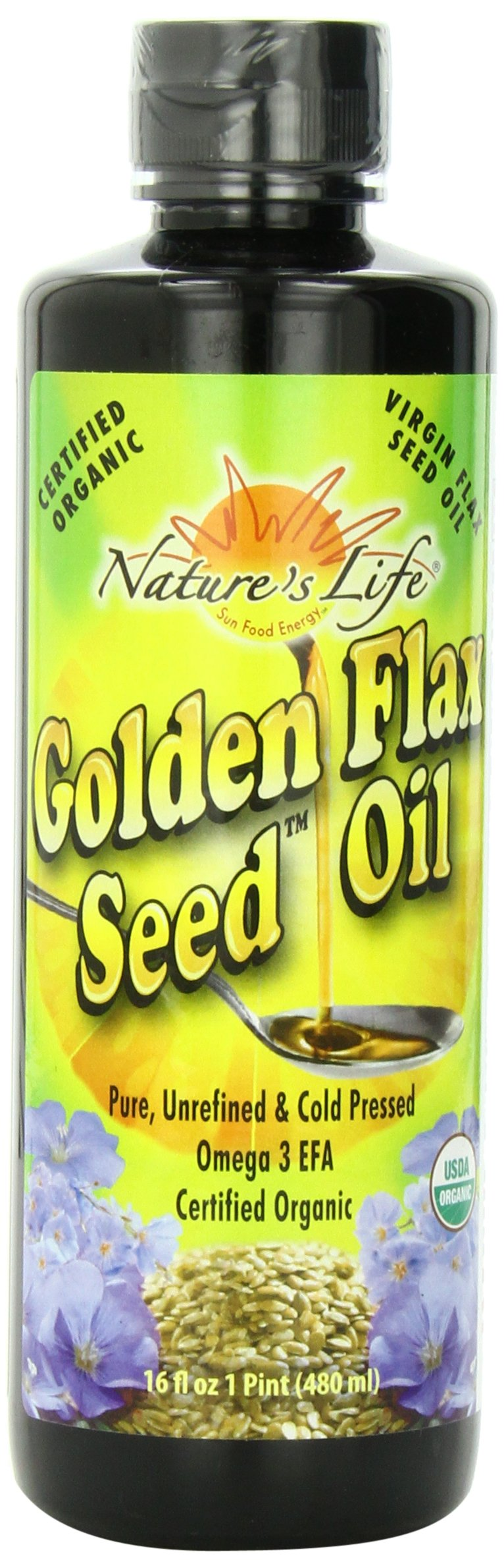 Nature's Life Golden Flax Seed Oil,  16 Ounce