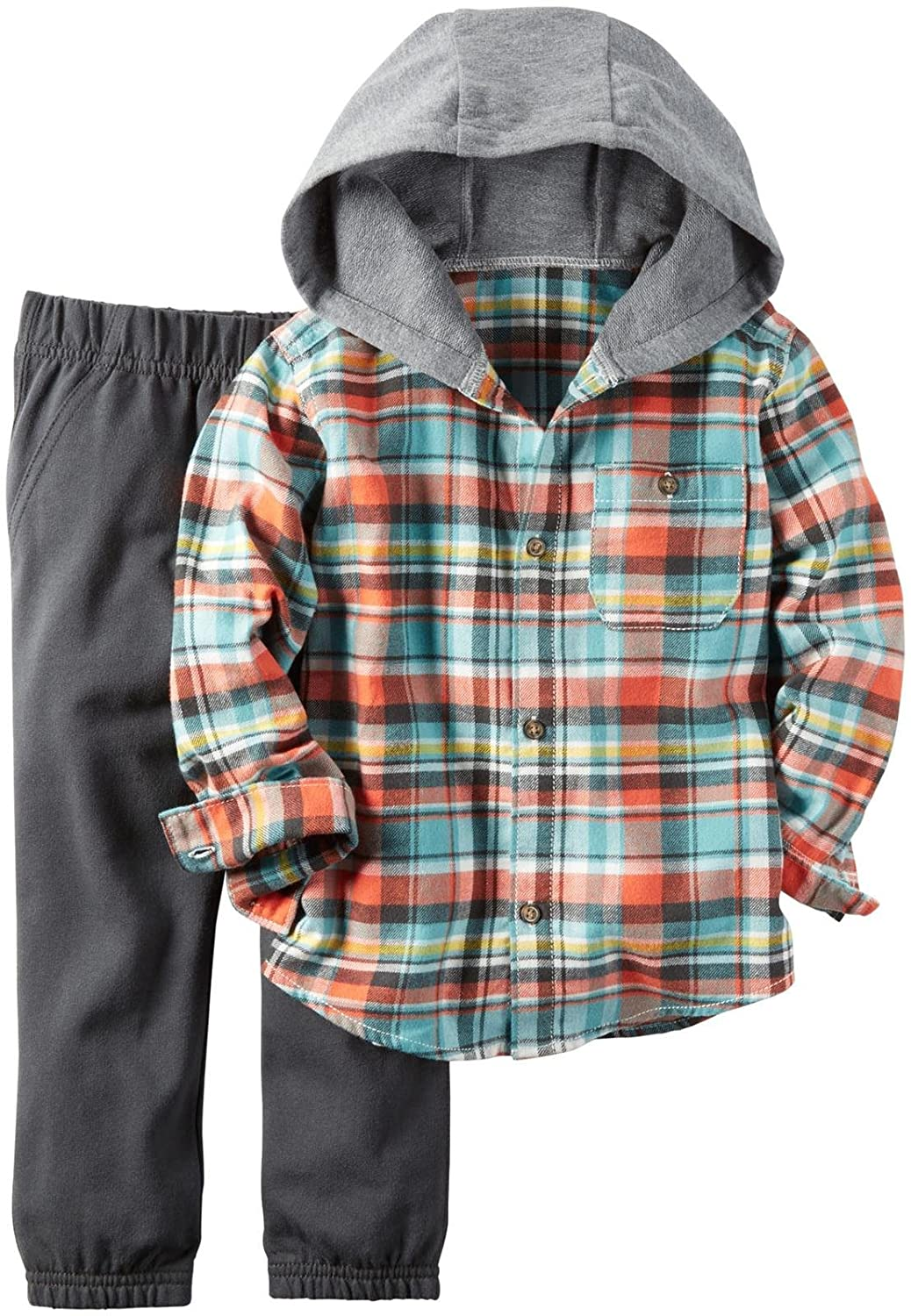 Carter's Boys 2 Pc Playwear Sets 249g261 Plaid 4T Carters 249G261-Plaid-4T