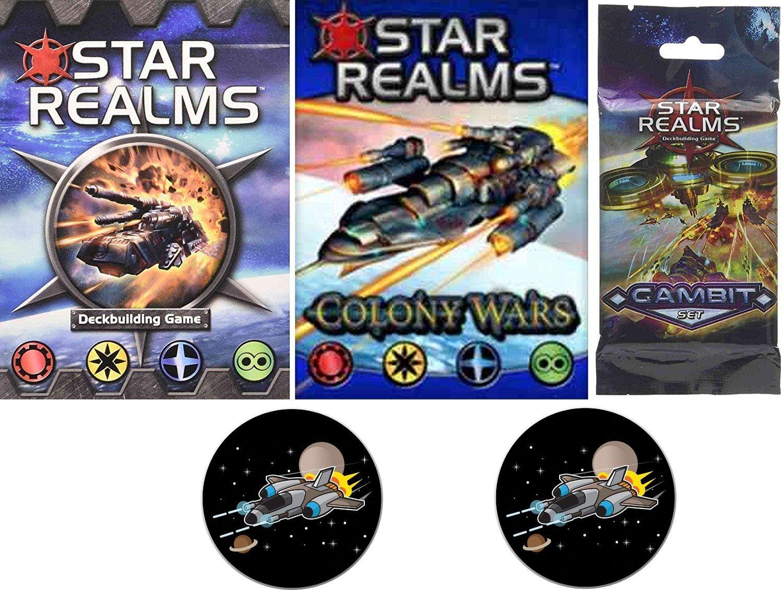 新作モデル Star Realms B06WLLK23D Bundle of Colony Gambit Base Game, Colony Wars Deck, the Gambit Set Plus 2 Star Fighter Buttons B06WLLK23D, 角田市:0a451ddd --- arianechie.dominiotemporario.com