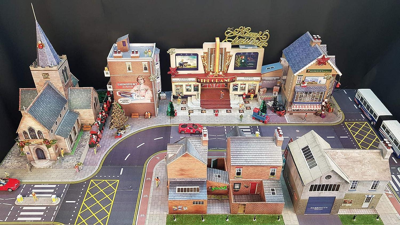 The CityBuilder O Gauge 1:48 Scale Roads /& PAVEMENTS Cardboard Model Making Kit Model Railroad Accessories SAM TOYS CB007