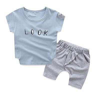 f8f4a1008 Amazon.com  Mud Kingdom Baby Boys Clothes Sets Cute Little Bear ...