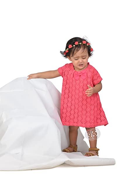 37268a7c4d02 KidsDew Cotton Kids Girls Baby Girls Frocks Dress  Amazon.in ...