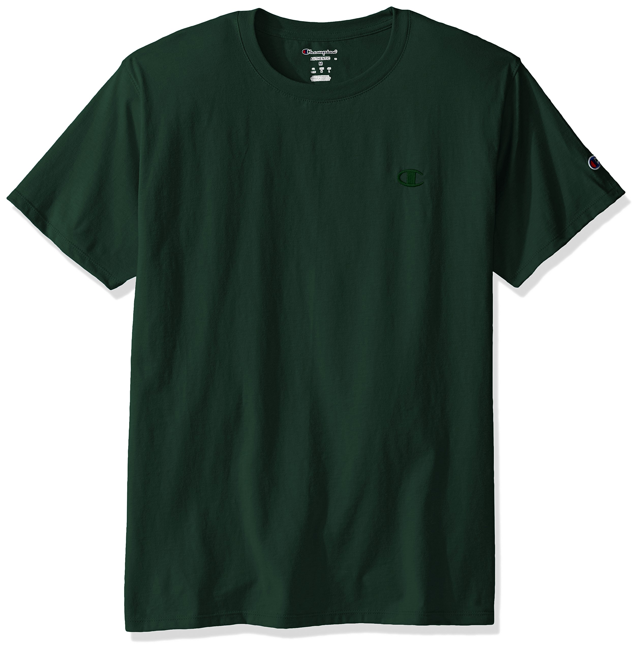 Champion Men's Classic Jersey T-Shirt, Dark Green, S by Champion