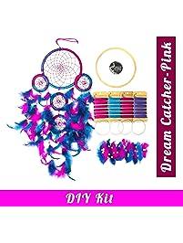 Asian Hobby Crafts DIY Dream Catcher Kit – Make one Complete Dream Catcher (Pink/Purple)
