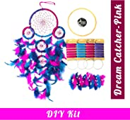 Asian Hobby Crafts DIY Dream Catcher Kit – Make one Complete Dream Catcher (Pink/Purple)