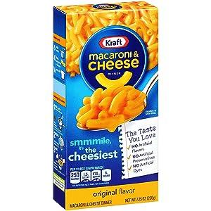 Kraft Original Macaroni & Cheese Dinner, 7.25 Oz, Pack of 15
