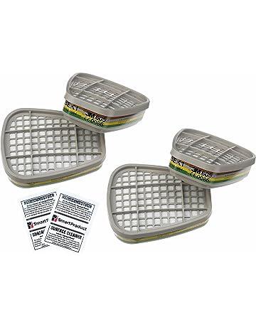 3M Filtros 6059 ABEK1 para Mascarillas - Filtro de Gases y Vapores, 4 Unidades (
