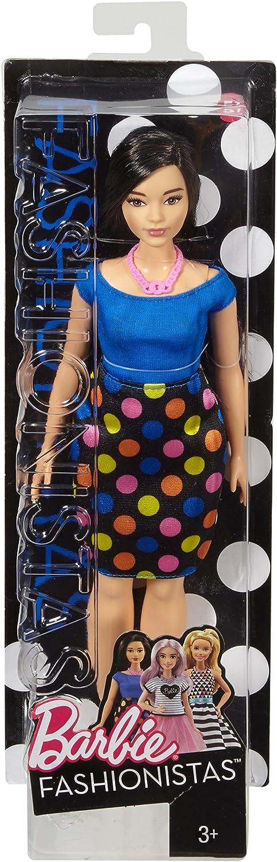 Amazon.es: Barbie - Fashionista, muñeca con Falda de Lunares ...