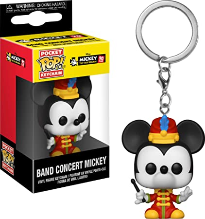 Funko Pop Keychain: Mickeys 90Th - Band Concert Mickey Collectible Figure, Multicolor