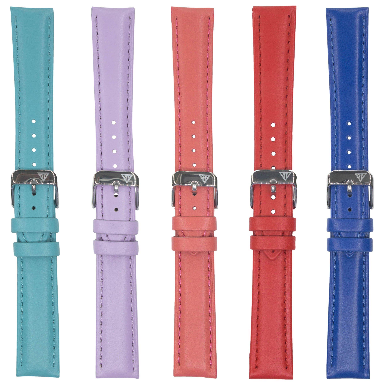 Dakota Unisex-Adult 4783 Colorful Genuine Leather Band (16 mm, 18 mm), 18 mm, Dark Blue