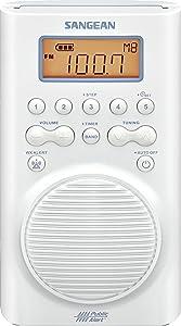 Sangean H205 AM/FM Weather Alert Waterproof Shower Radio