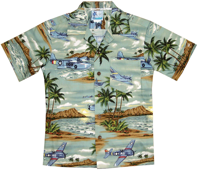 RJC Boys Island Aviation Shirt in Green - 18 by RJC (Image #1)