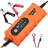 Trickle Car Battery Charger- 12v Charger For Car and 6v For Motorcycle - Best Automatic Portable Auto Battery Smart Charger For Lead Acid Batteries- Battery Charge Maintainer With Clips and O-rings
