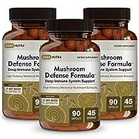 Mushroom Defense Formula by DailyNutra - Immune Support Supplement | Organic Mushrooms...