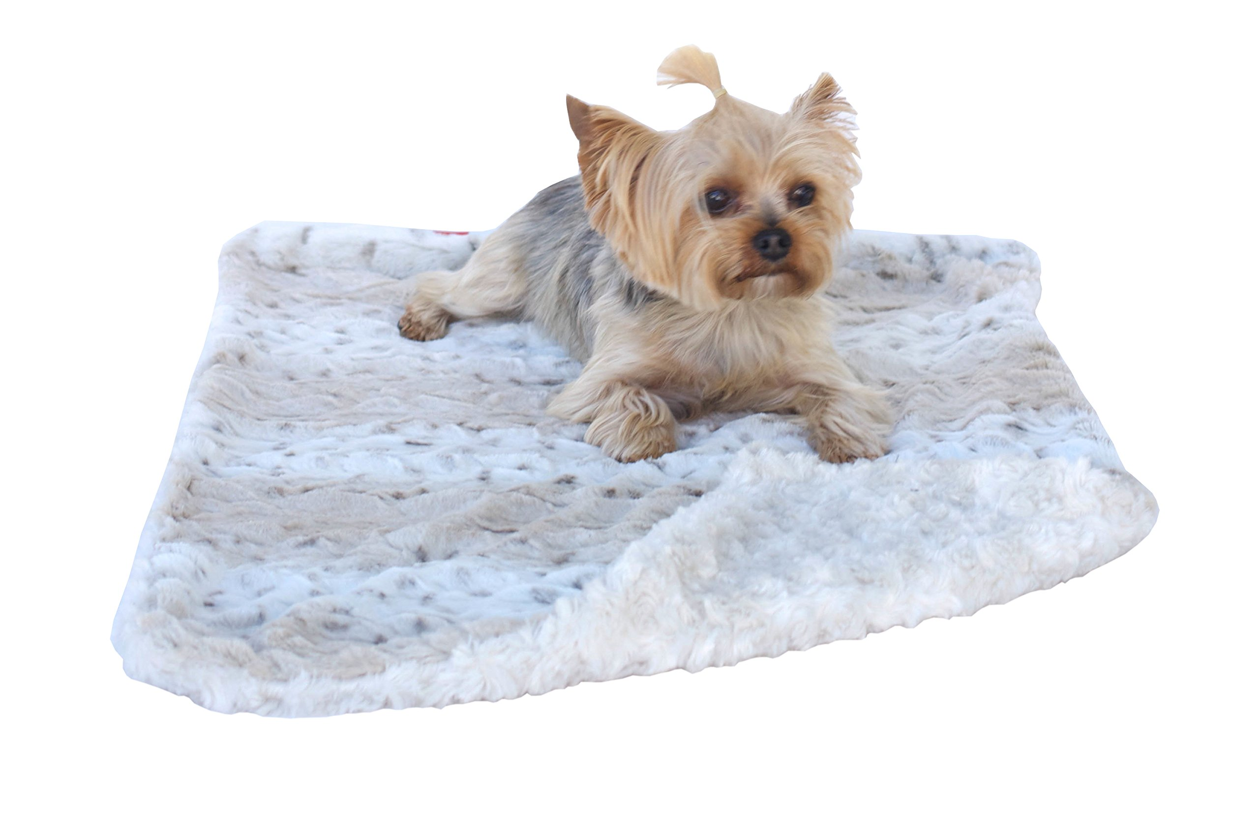 The Dog Squad Minkie Binkie Blanket Frosted Snow Leopard, 36 by 58 Square Feet