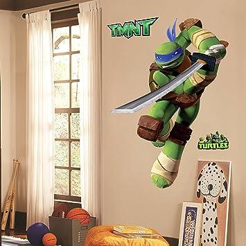 Amazoncom Teenage Mutant Ninja Turtles Leo Peel And Stick TMNT - Ninja turtle wall decals