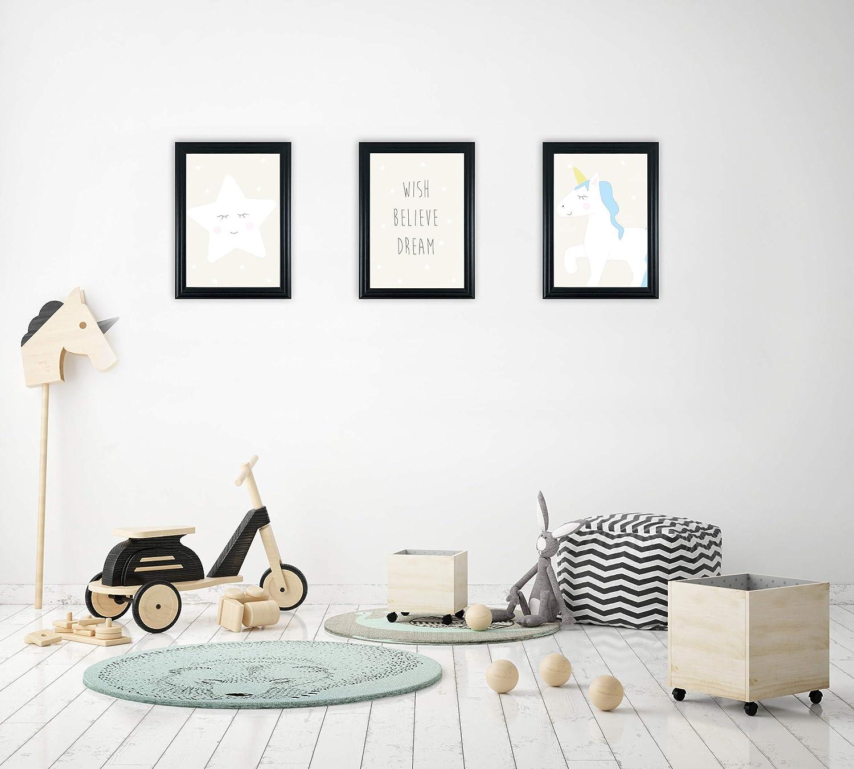 Fabian Roo 3pc Hand Drawn Animal//Safari//Jungle Art Prints Ideal Child Bedroom /& Nursery Decor