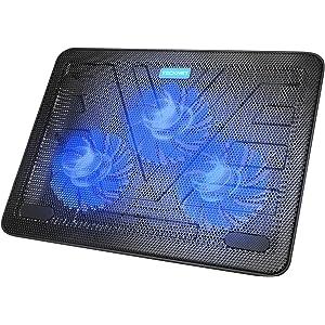 Base de Refrigeración TeckNet para Ordenador Portátil de 12-17 Pulgadas 3 Ventiladores Silenciosos con