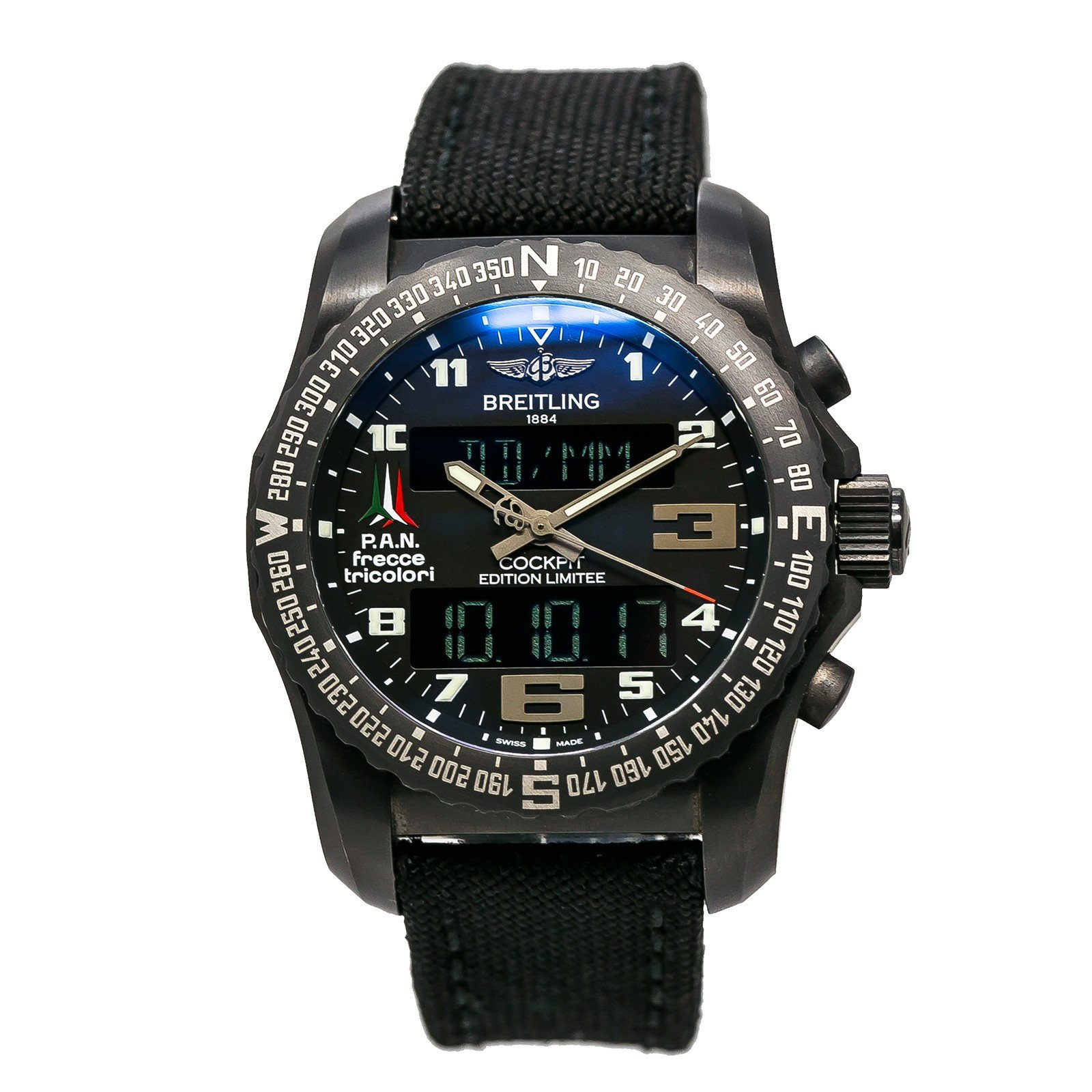 Breitling Cockpit swiss-quartz mens Watch VB5010 (Certified Pre-owned)