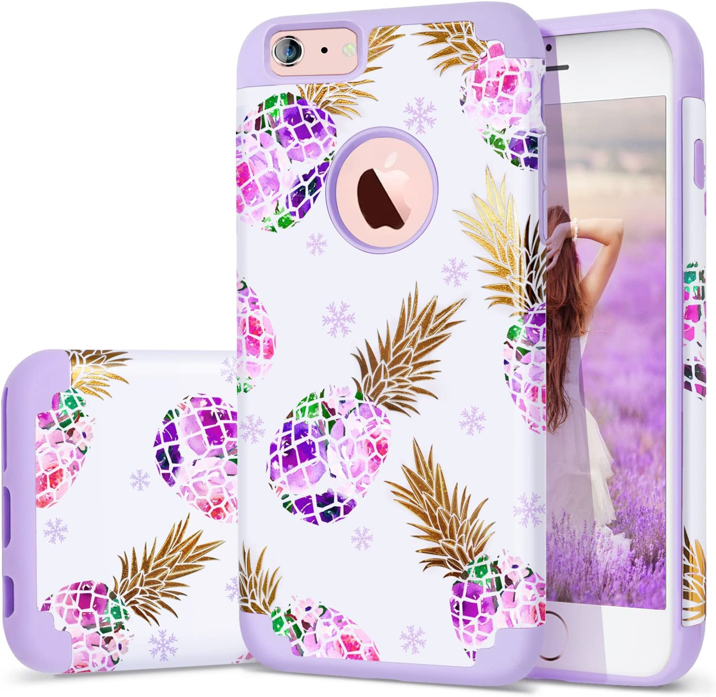 Amazon Com 6s Plus Case Iphone 6 Plus Case Purple Fingic Floral