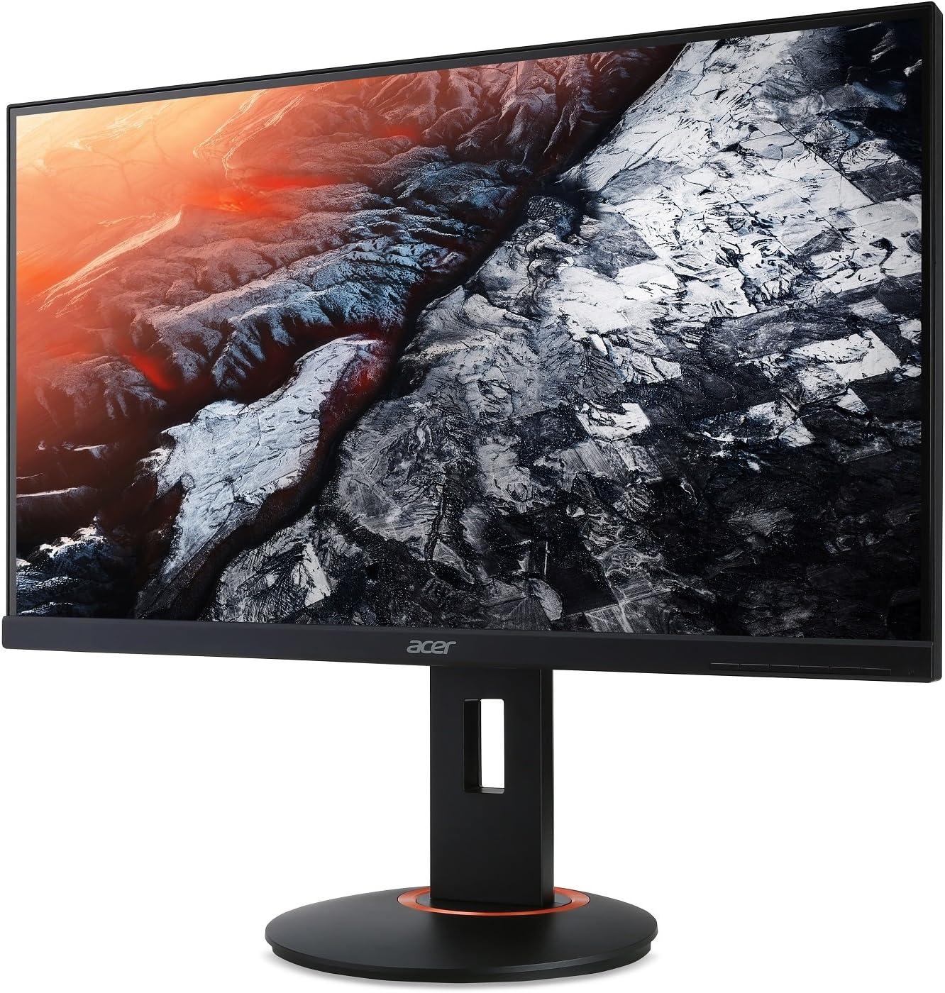 ",Black Acer Gaming Monitor 27/"" XF270H Abmidprzx 1920 x 1080 240Hz Refresh Rate AMD FREESYNC Technology Display Port, HDMI /& DVI Ports"