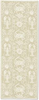 """product image for Heritage Lace Sand Crab Damask Table Runner, 14""""x36"""""""
