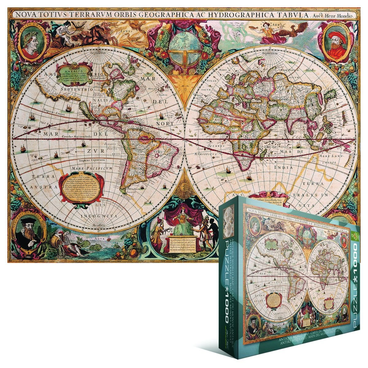 Amazon eurographics antique world map puzzle 1000 piece amazon eurographics antique world map puzzle 1000 piece varios toys games gumiabroncs Image collections
