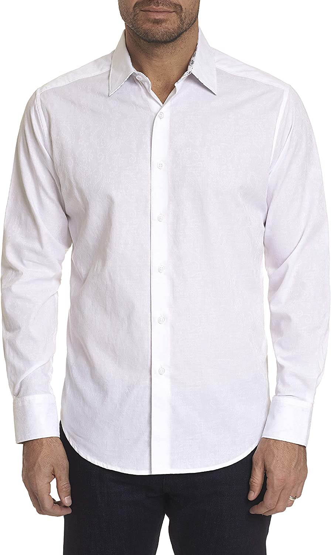 Robert Graham Hanging Gardens L/S Paisley Printed Woven Shirt Classic Fit White XLarge