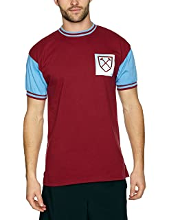 West Ham United 1966 Retro Shirt: Amazon co uk: Sports