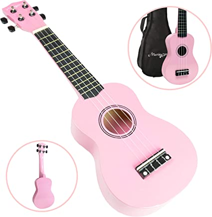 Martin Smith Ukelele Soprano Con Ukulele Bag - Pink: Amazon.es ...
