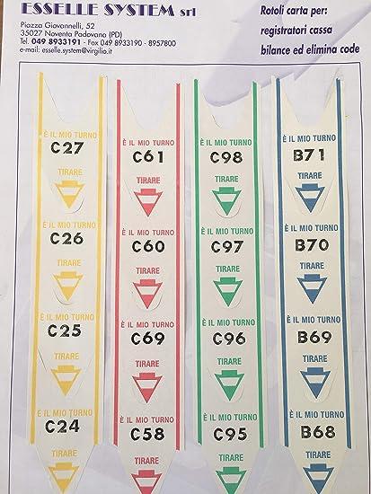 Lot de 5 Rouleaux de 2000-Ticket ELIMINACODE Détiquettes Numérotées Aronde