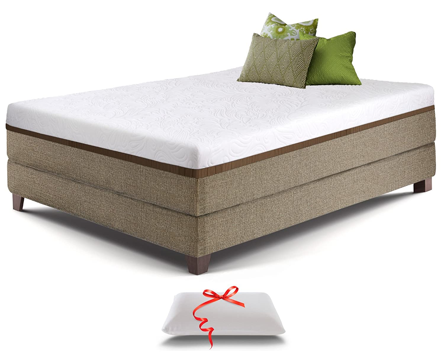 Amazon Com Full Gel Memory Foam Mattress Bonus Memory Foam Pillow
