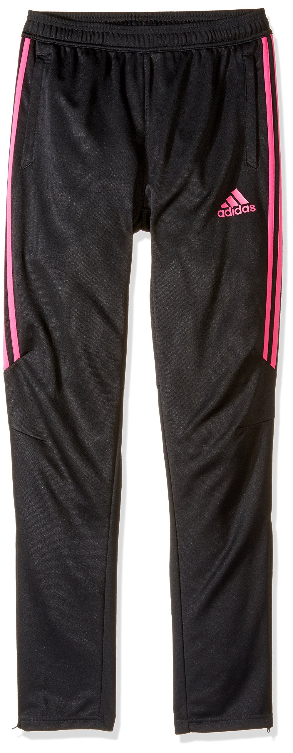adidas Youth Soccer Tiro 17 Pants, XX-Small - Black/Shock Pink