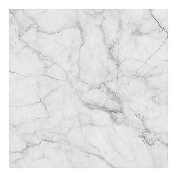 Marmor Tapete   Marmoroptik Weiß Grau   Bianco Carrara   Vlies Wandtapete  Quadrat, Größe HxB
