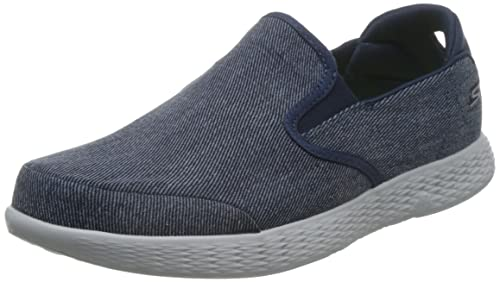 Skechers On-The-Go Glide-Success, Zapatillas sin Cordones para Hombre, Azul (Dark Denim), 45 EU