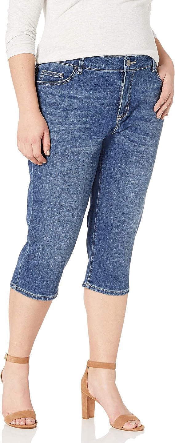 Plus Size  indigo blue denim jeans G-18