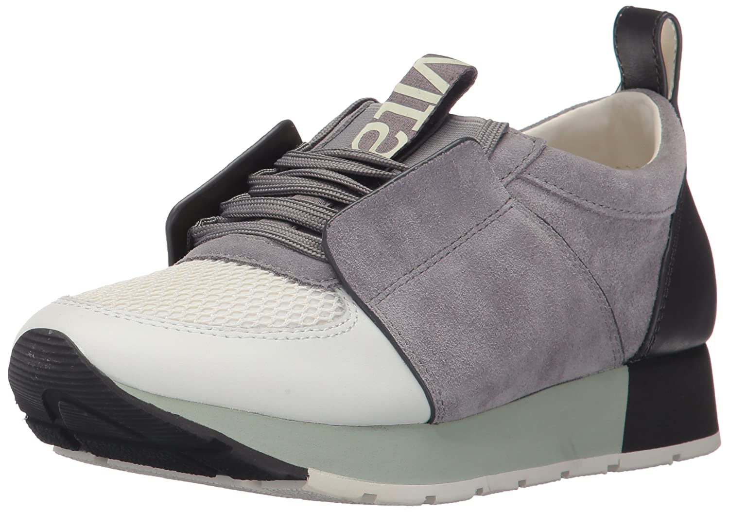Dolce Vita Women's Yana Sneaker B071G2GQ41 10 B(M) US|Grey/White Leather