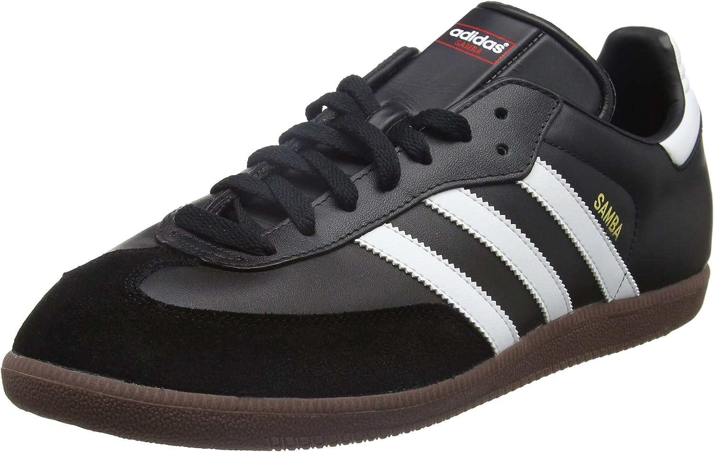 adidas Samba Classic, Schwarz-weiã, Zapatillas de Fútbol para Hombre