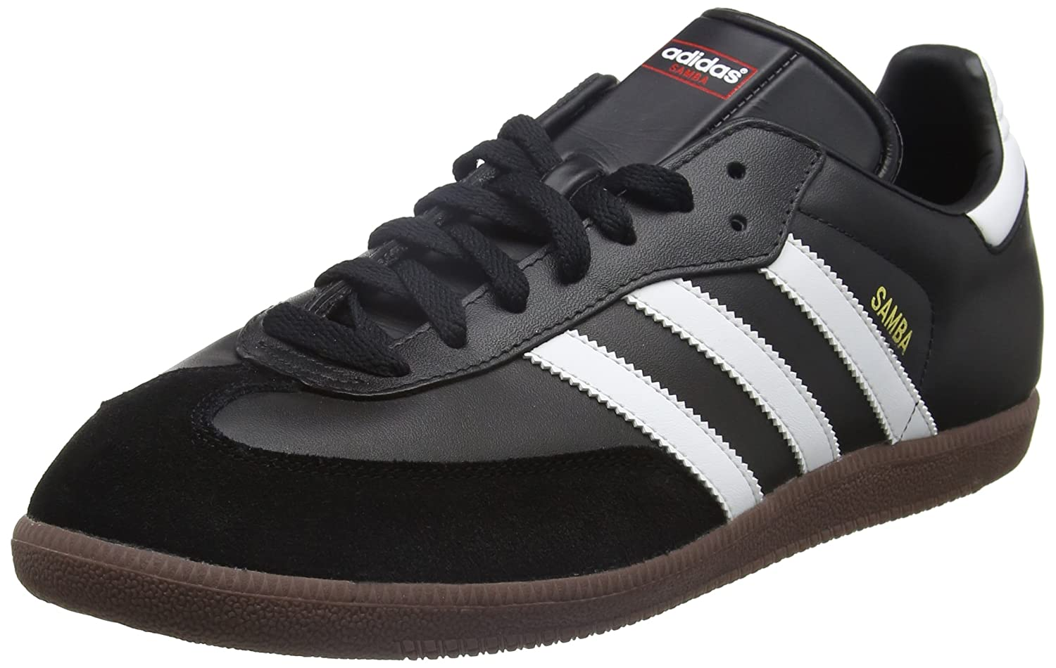 adidas Unisex-Erwachsene Samba Low-Top  42 EU|Schwarz (Black/Running White Footwear)