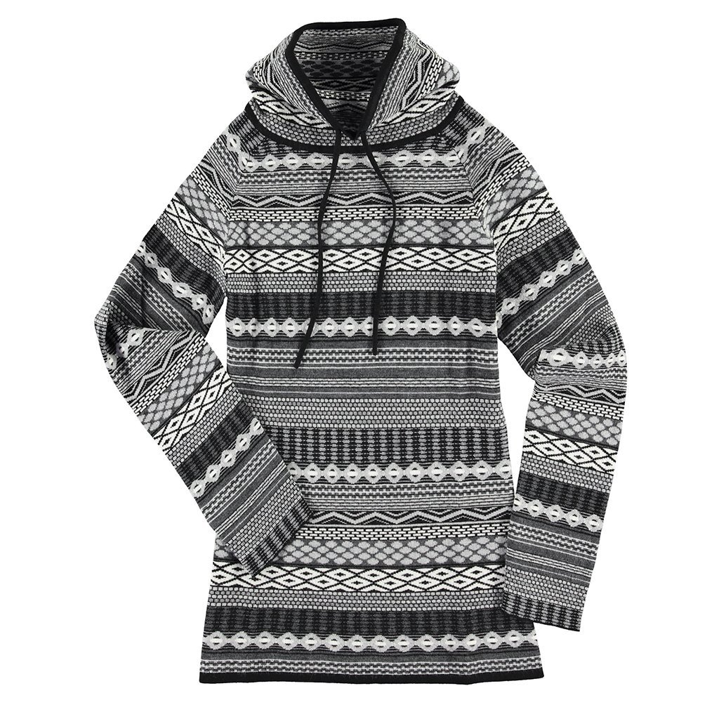 Krimson Klover Erika Funnel Neck Sweater - ( Snow, X-Large )