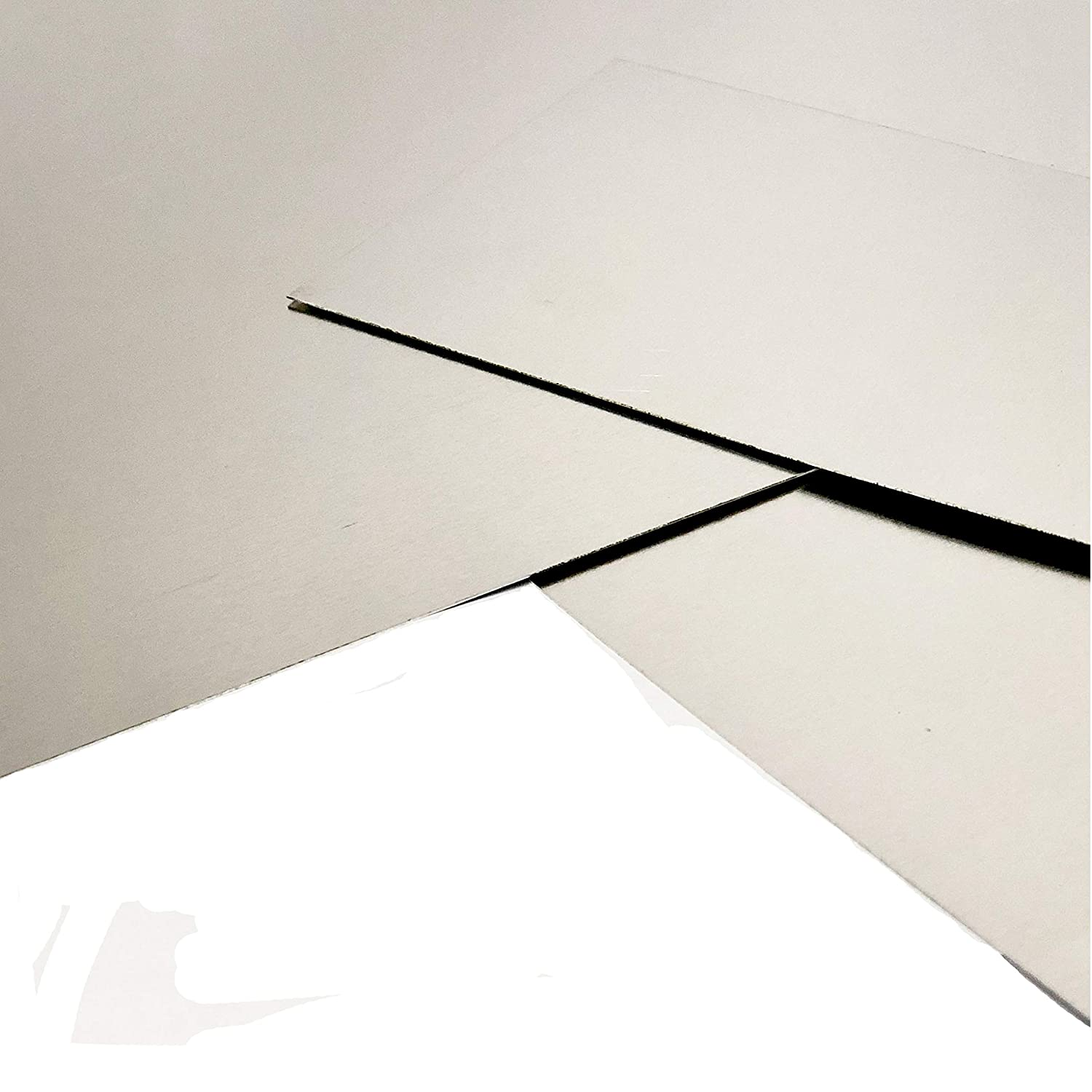 75 x 75mm Sheet 0.5mm Thick 304 Grade Stainless Steel Sheet Metal Plate Guillotine Cut With Protective Coat