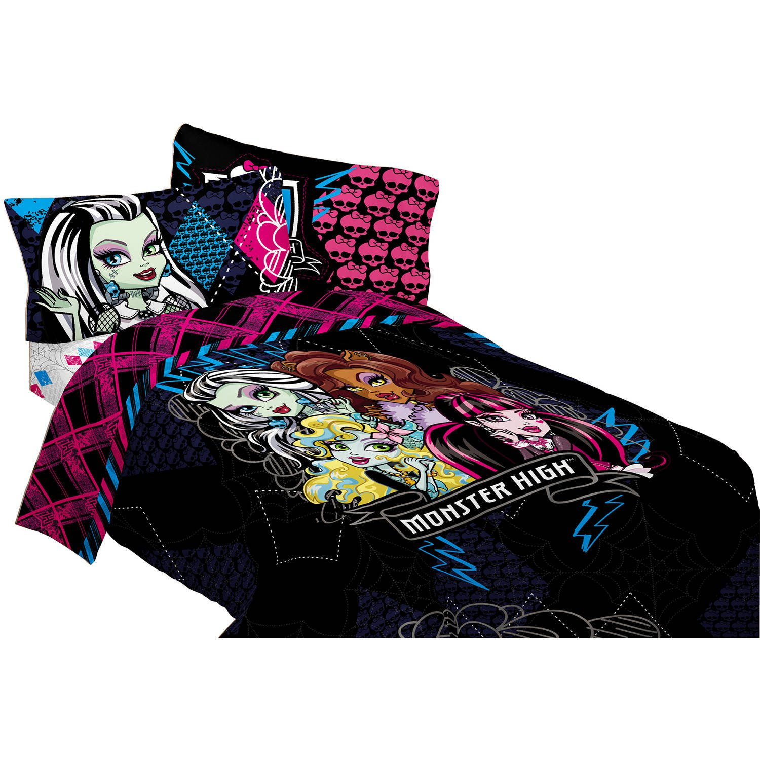 Childrens, Kids, Toddlers, Twin Size Bedding Comforter Sets (Monsters High) by Disney Nickelodeon Marvel