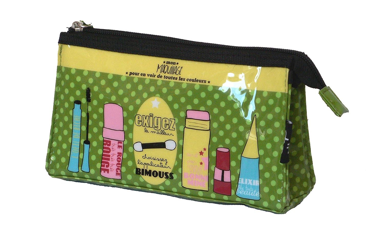 dlp beauty case borsa trucchi Bimouss/verde/lunghezza 20 cm larghezza 5 cm altezza 11 cm/vinile