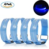 LED Armband, Meersee High Visibility LED Sports Armband Bracelet Reflective Strobe Lights for Jogging Cycling Armband With LED