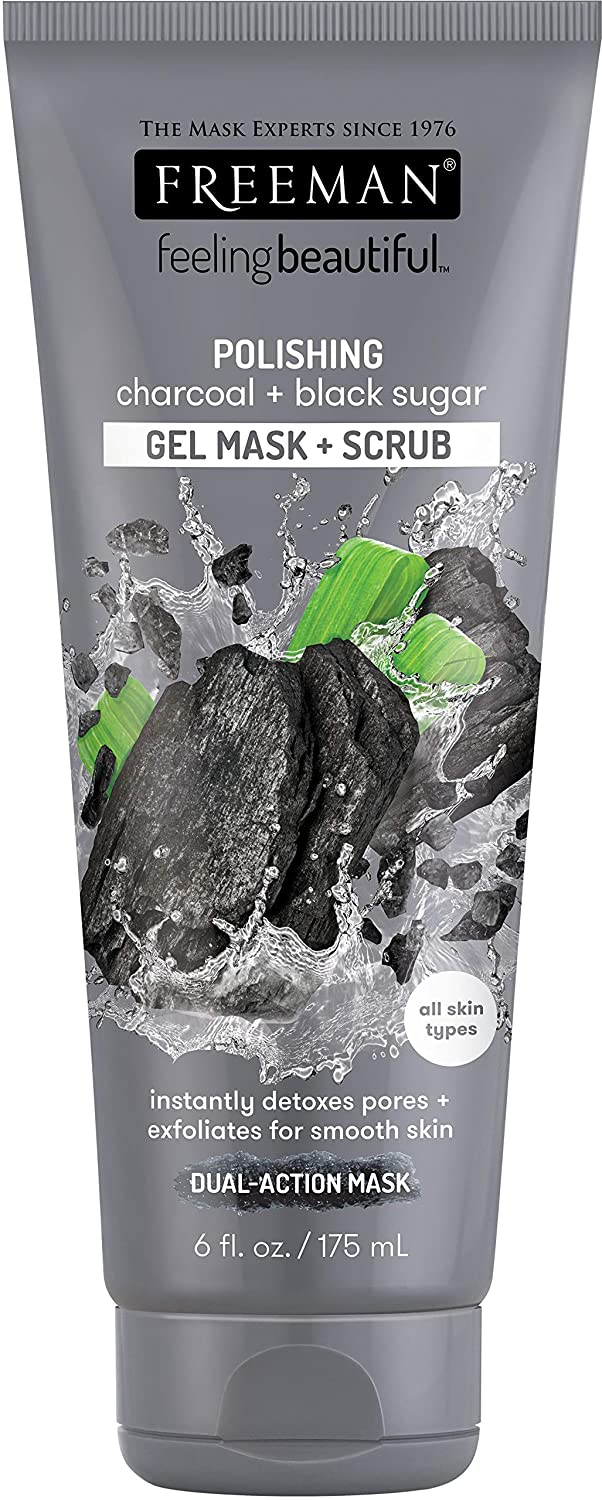 Freeman Facial Charcoal and Black Sugar Polish Mask, 6 Ounce
