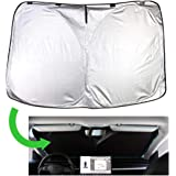 Chirano Front Windshield Sunshade Specially Designed to Fit Tesla Model 3/ Model Y, Foldable Sun Shade with a Storage…